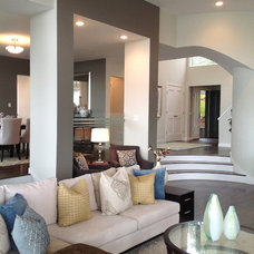 Contemporary Living Room by MOONES Home LLC