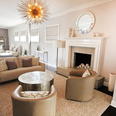 Transitional Living Room by Rayna Marz Interiors