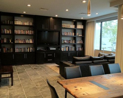 Black Living Room Design Ideas Renovations Photos With Terracotta Floo