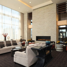 Contemporary Living Room by Architectural Ceramics Inc