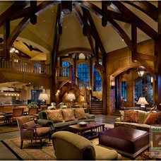 Traditional Living Room by Euclid Timber Frames, LC