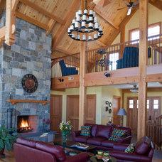 Rustic Living Room by Davis Frame Company