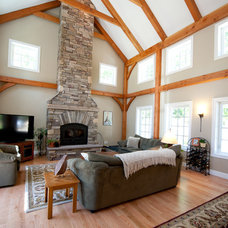 Traditional Living Room by Ridgeview Construction