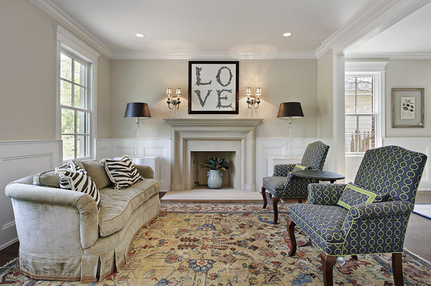 Eclectic Living Room by Mandy Brown Architects, PC