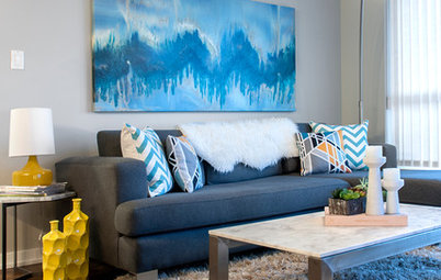 My Houzz: Color and Pattern Give a Newlyweds' Home Zing