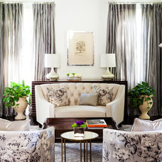 Traditional Living Room by Susan Manrao Design