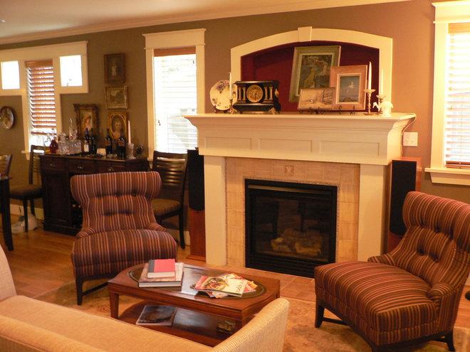 Traditional Living Room by Timothy De Clue Design L.L.C