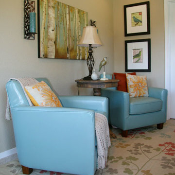 Tiny Guest Cottage Sitting Area
