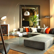 Contemporary Living Room by Arcademia Group Inc.