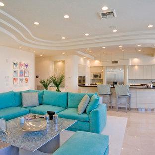 Living room - contemporary open concept living room idea in Las Vegas