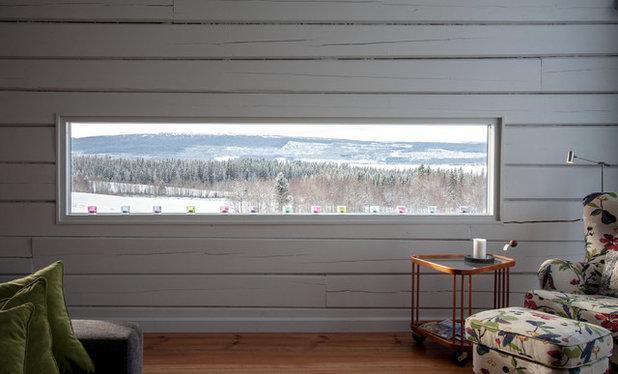 Rustik Vardagsrum by T+E Arkitekter