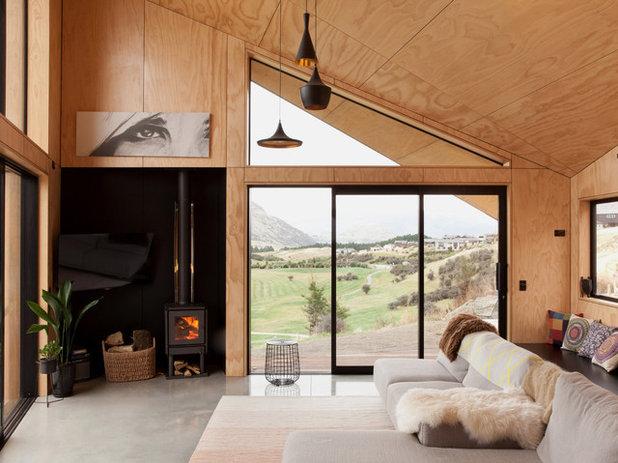 Scandinavian Living Room by Anna-Marie Chin Architects Ltd