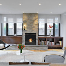 Contemporary Living Room by Tom Sibley Interior Photography NYC