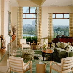 eclectic living room by Tomar Lampert Associates