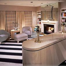 Transitional Living Room by Tomar Lampert Associates
