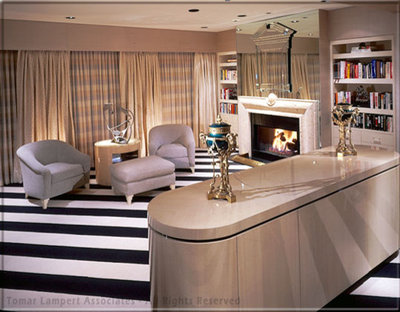 Transitional Living Room by Tomar Lampert Associates