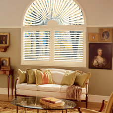 Contemporary Living Room by DECO Window Fashions