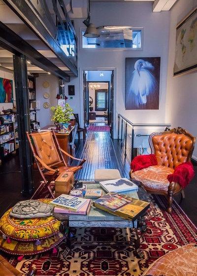 Eclectic Living Room by Pekota Design
