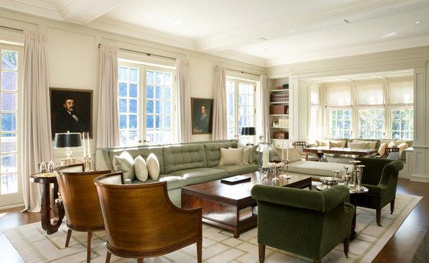 Traditional Living Room by Heintzman Sanborn Architecture~Interior Design