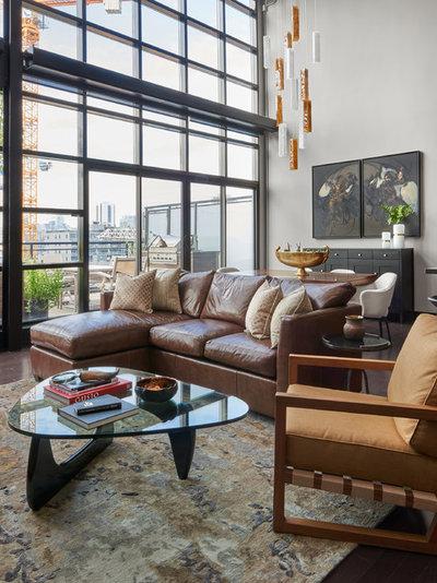Modern Living Room by KMSalter Design