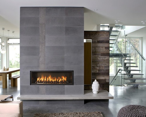 SaveEmail - Best Modern Fireplace Mantel Design Ideas & Remodel Pictures Houzz
