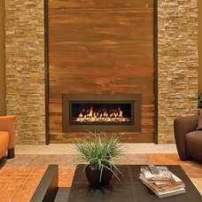 Contemporary Living Room by Rustic Fire Place