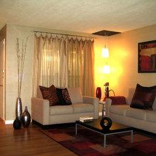 Modern Living Room by AjjC Design