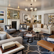Transitional Living Room by Helen Green Design