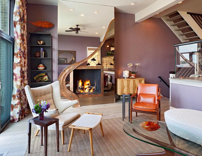 Contemporary Living Room by Bruce Palmer Coastal Design