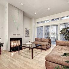 Contemporary Living Room by Kariouk Associates