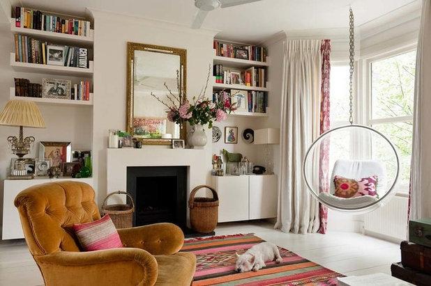 Transitional Living Room by Sarah Vanrenen Designs