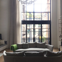 Tribeca private house - Automated Sheer linen curtains.