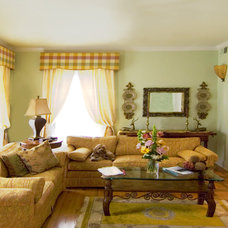 Traditional Living Room by Kit Golson Design