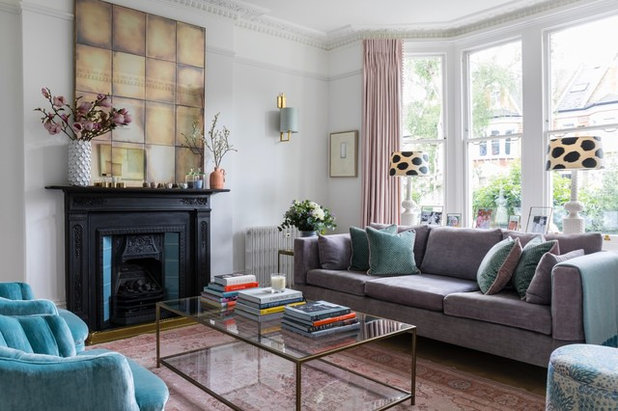 Traditional Living Room by Laura Stephens Interiors
