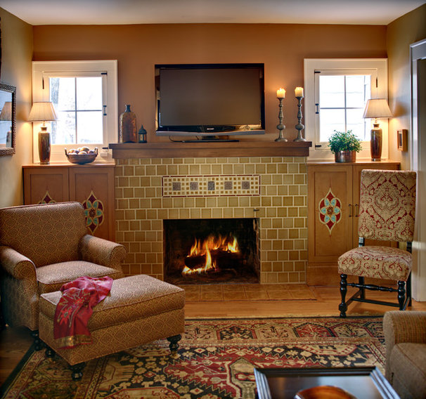 Eclectic Living Room by Tracey Stephens Interior Design Inc