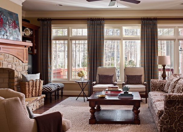 Traditional Living Room by traci zeller designs