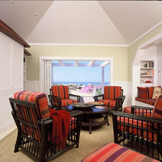 Beach Style Living Room by DD Ford Construction, Inc