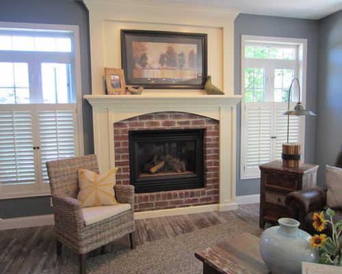 Fireplace without hearth ideas pictures remodel and decor for How to decorate a living room without a fireplace