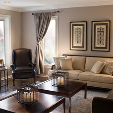 Traditional Living Room by Barrickman Design Group