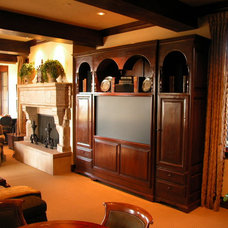 Traditional Family Room by The French Tradition