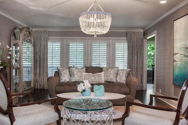 Traditional Living Room by Kurt Johnson Photography