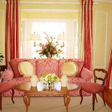Farmhouse Living Room by Kenneth/Davis, Inc.