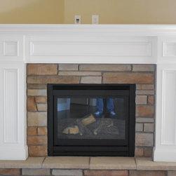 Traditional fireplace mantel -