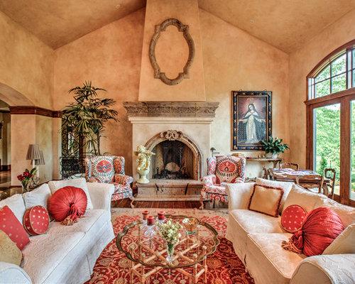 Mediterranean living room design ideas remodels photos for Moad interior designs