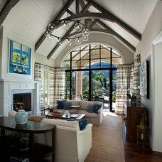 Traditional Living Room by Candelaria Design Associates