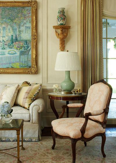 American Traditional Living Room by Katherine Shenaman Interiors