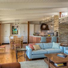 Beach Style Living Room by Landmark Builders