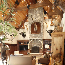 Traditional Living Room Traditional Landscape