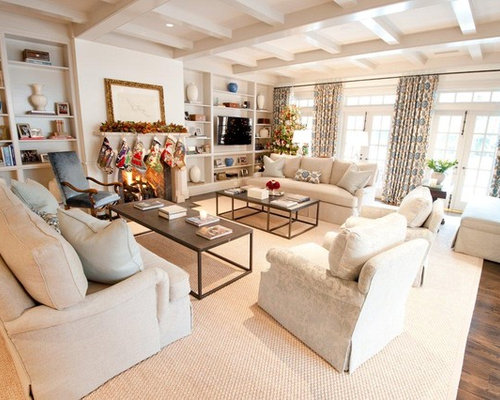 Family room layout houzz for Living room furniture configurations