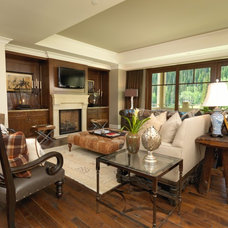Traditional Living Room by Alder and Tweed